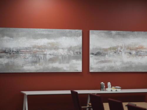 Akustiikkamaalaukset Seinäjoki- Areenan kabinetissa